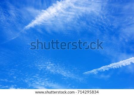 clouds in the blue sky. #714295834
