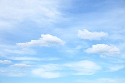 Clouds in the blue sky - natural background