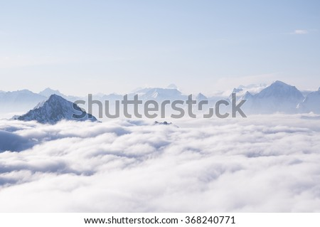 Clouds in the mountains #368240771