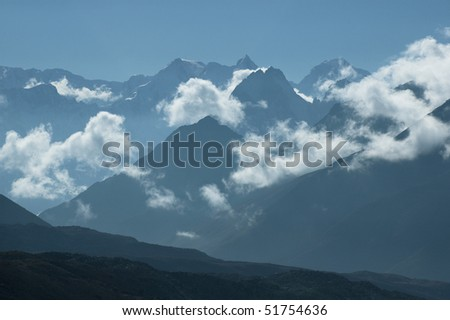 Clouds in the mountains #51754636