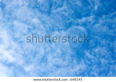 Clouds in the sky