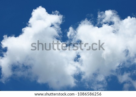clouds in the sky after the rain #1086586256