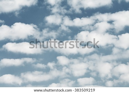 clouds in the sky in a clear day, low saturation effect - Shutterstock ID 383509219