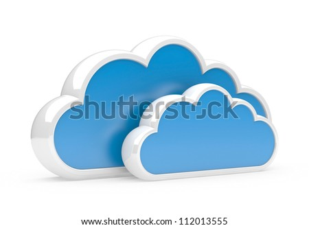 clouds isolated on a white background. 3d illustration