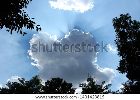 clouds of clear and clear sky #1431423815