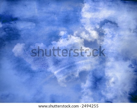 clouds, old painted  backround