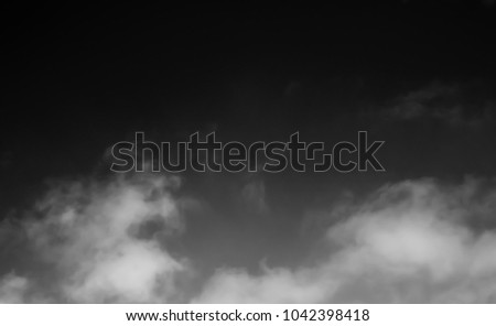 clouds on a black background