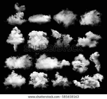 clouds on black background - Shutterstock ID 585658163