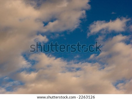 Clouds on Blue Sky for Background