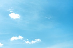 Clouds  on bright bluesky background and copy space