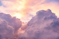 Clouds on sky sky pink and blue colors. Sky abstract natural background