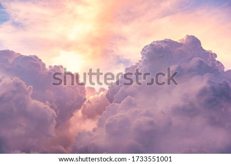 Clouds on sky sky pink and blue colors. Sky abstract natural background Photo stock ©