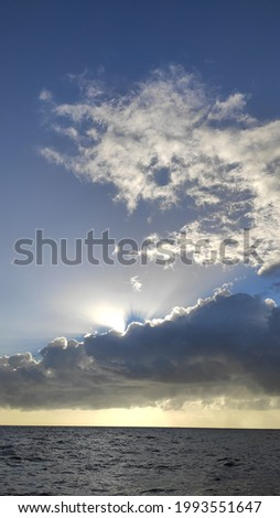 clouds on the high seas