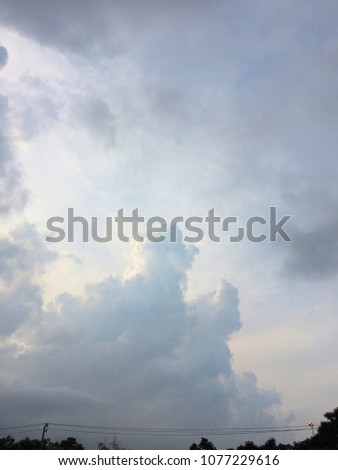 Clouds on the sky after rain. #1077229616