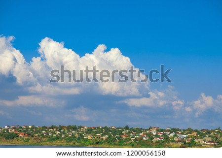 clouds over the village #1200056158