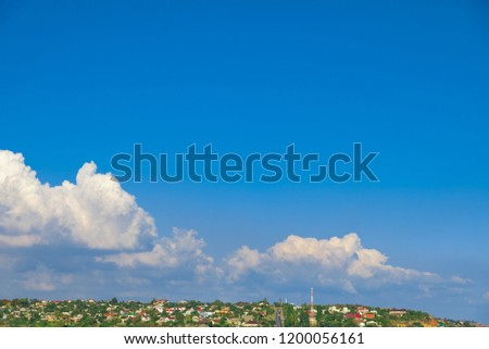 clouds over the village #1200056161