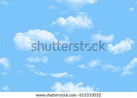 Clouds pattern seamless