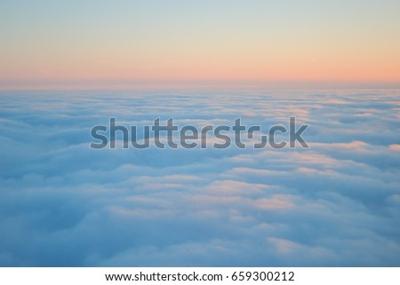 clouds seen from above on...