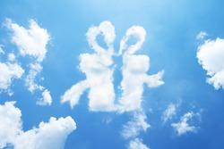 Clouds shaped like a gift.