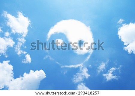 Photo of  Clouds shaped yin-yang sign.