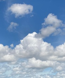 Clouds Stratocumulous and Altostratus with low stratus cloud formations on a hot sunny afternoon in Thailand.No focus