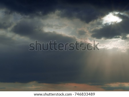 Clouds texture. Overcast sky with dark clouds. abstract background. The sky was overcast with clouds before the rain is heavy.