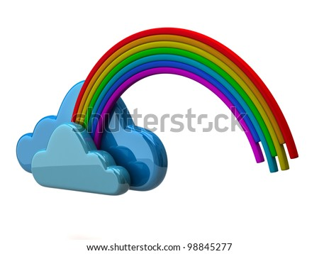 Clouds with a rainbow