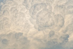 clouds with beautiful textures, cumulus at sunset