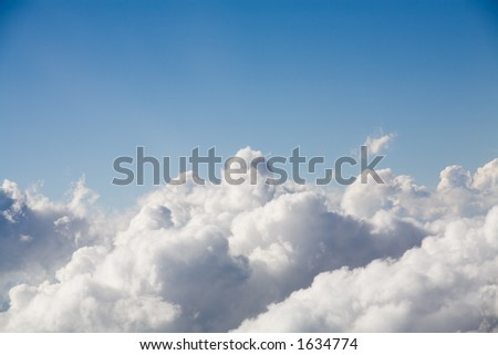 clouds with blue sky background for copyspace