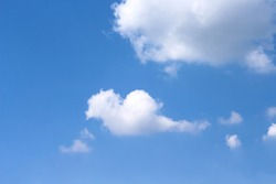 Clouds with breeze on  bluesky for summer background and copy space