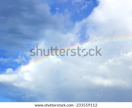clouds with rainbow, sky background