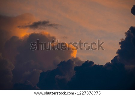 Clouds with sunset sky background wallpaper; colorful twilight sunset #1227376975