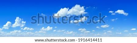 Cloudscape - Blue sky and white clouds, wide panorama Foto d'archivio ©