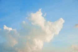Cloudscape in strange form on blue sky.