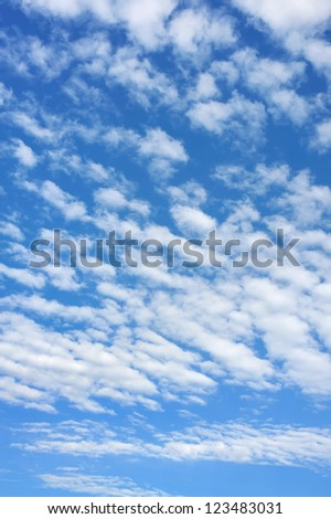 Cloudscape  - only sky and clouds - background