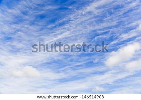 Cloudscape over blue sky