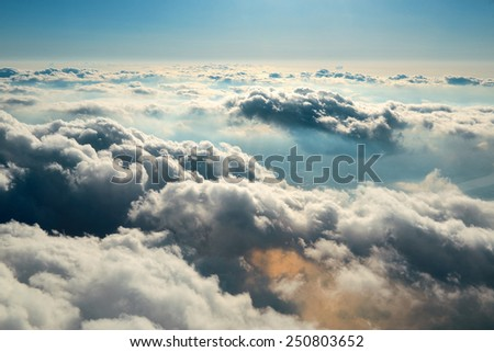Cloudscape viewed from air.
