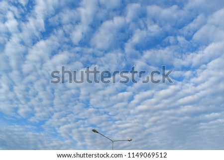 cloudscape with Altocumulus cloud