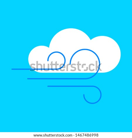 Cloudy and windy weather. Flat, isolated.