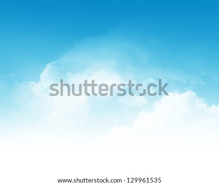 cloudy blue sky abstract...