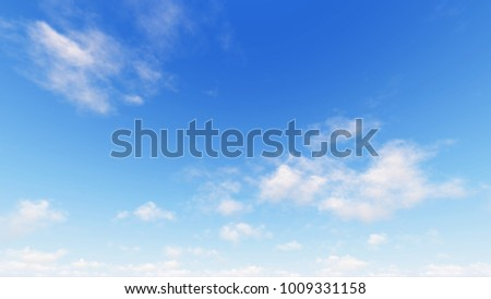 Cloudy blue sky abstract background, blue sky background with tiny clouds, 3d illustration - Shutterstock ID 1009331158