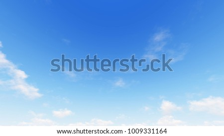 Cloudy blue sky abstract background, blue sky background with tiny clouds, 3d illustration - Shutterstock ID 1009331164