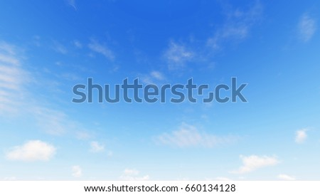 Cloudy blue sky abstract background, blue sky background with tiny clouds, 3d illustration - Shutterstock ID 660134128