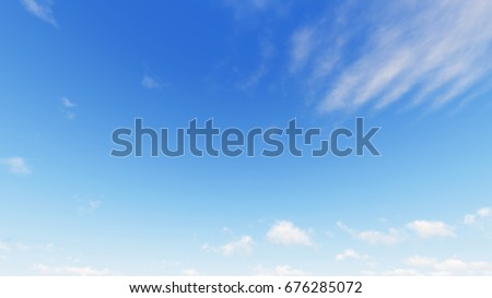 Cloudy blue sky abstract background, blue sky background with tiny clouds, 3d illustration - Shutterstock ID 676285072