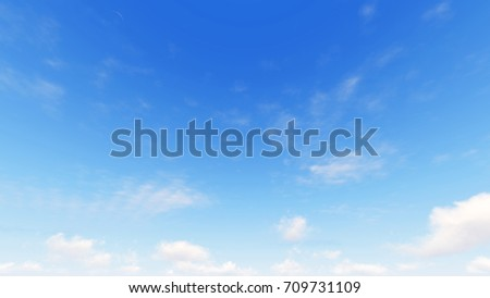 Cloudy blue sky abstract background, blue sky background with tiny clouds, 3d illustration - Shutterstock ID 709731109