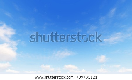 Cloudy blue sky abstract background, blue sky background with tiny clouds, 3d illustration - Shutterstock ID 709731121