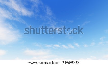 Cloudy blue sky abstract background, blue sky background with tiny clouds, 3d illustration - Shutterstock ID 719695456
