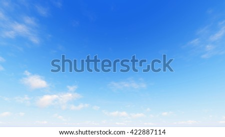 Cloudy blue sky abstract background, blue sky background with tiny clouds, 3d rendering - Shutterstock ID 422887114