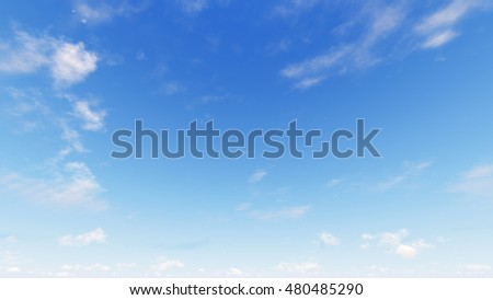 Cloudy blue sky abstract background, blue sky background with tiny clouds, 3d rendering - Shutterstock ID 480485290