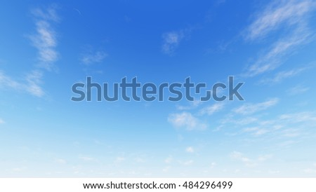 Cloudy blue sky abstract background, blue sky background with tiny clouds, 3d rendering - Shutterstock ID 484296499